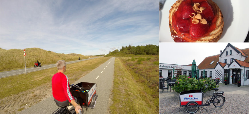 Veien går rett fram til Skagen. Deilig med luncg hus Aalbæk gamle Kro.